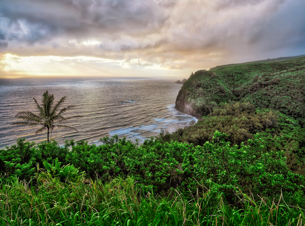 Cloudy Sunrise at the Pololu Overlook, Hawaii