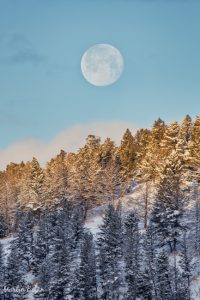 Full Moon Setting Over Yellowstone