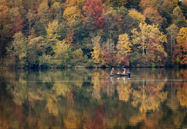 Fishing with the Fall Colors on Lake Logan