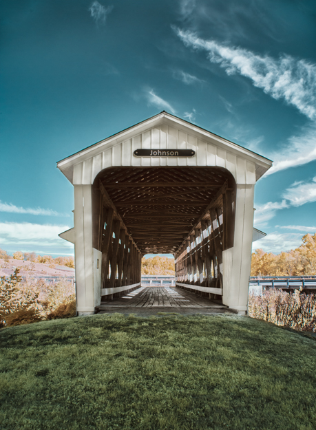 Johnson Covered Bridge, Infrared