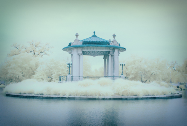 Nathan Frank Bandstand in Pagoda Lake, Forest Park, St. Louis,