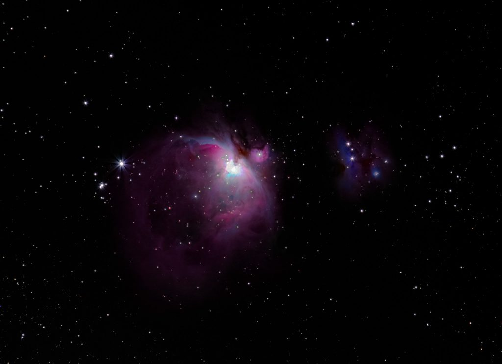 The Orion Nebula (M42) and Running Man Nebula (M43)