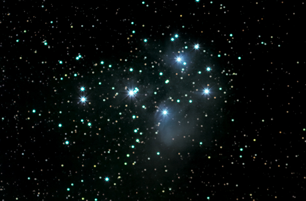 Pleiades Star Cluster (7 Sisters)