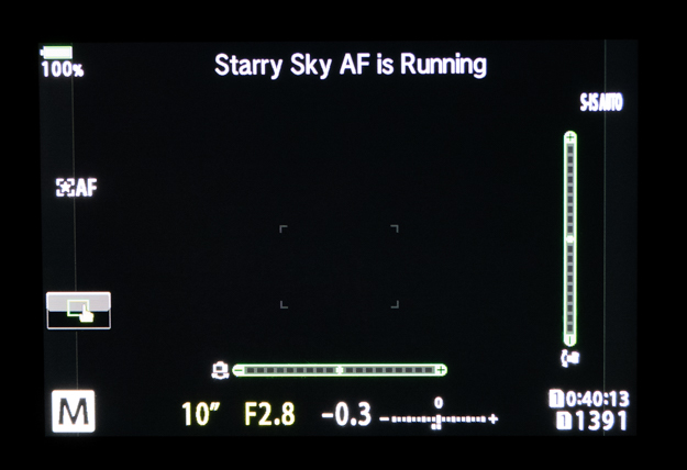 Starry Sky is Running - Autofocusing the Stars
