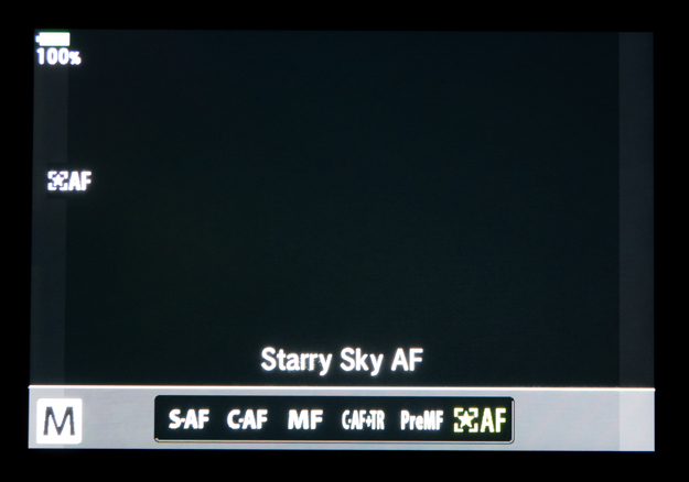 Starry Sky Autofocus Selection