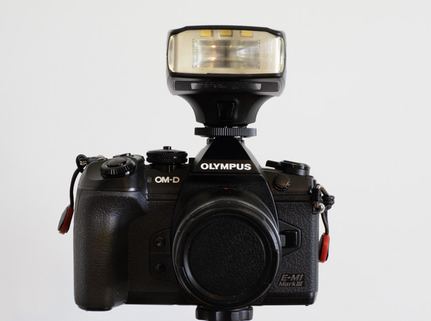 Olympus OM-D E-M1 III and Meike MK320 Speedlight