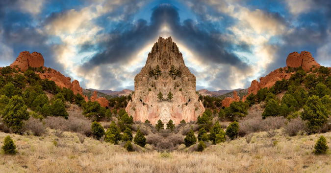 Cathedral Rock, Garden of the Gods - Mirror Image