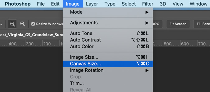 Check your Canvas Size