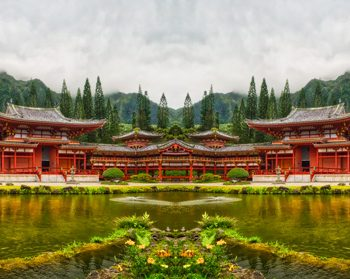 Byodo-In Temple, Hawaii - Mirror Image
