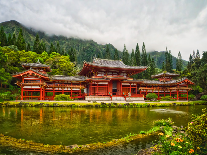 Byodo-In Temple, Hawaii - Before