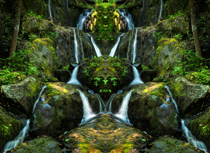 Place of a Thousand Drips, Smoky Mountains - Mirror Image