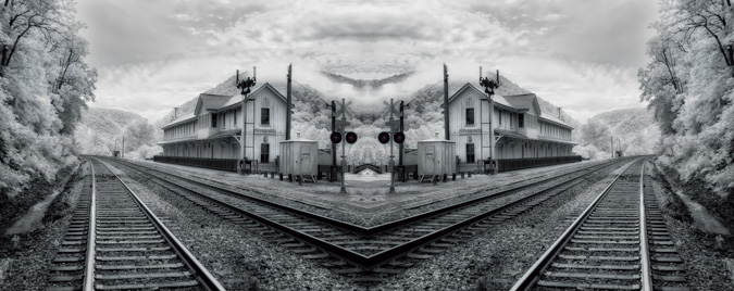 Train Station, Thurmond, West Virginia - Mirror Image