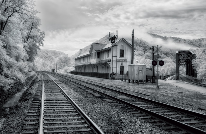 Train Station, Thurmond, West Virginia - Before