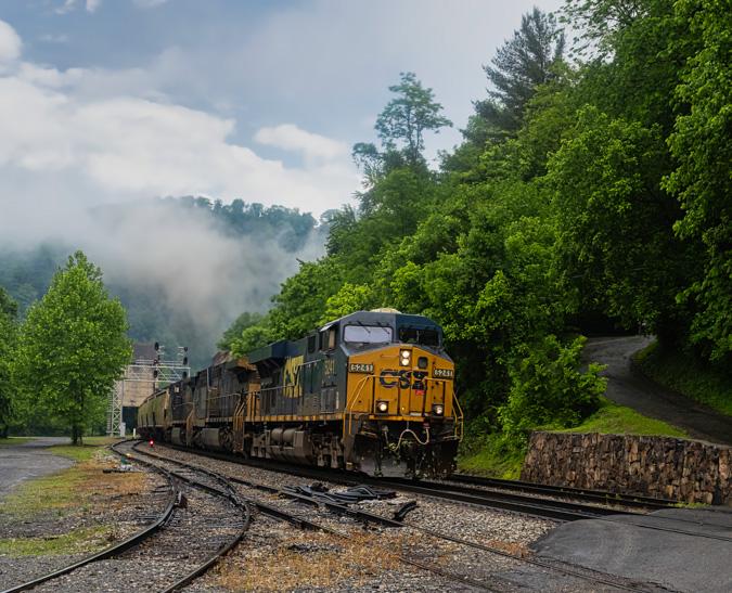 Train at Thurmond, West Virginia - Before
