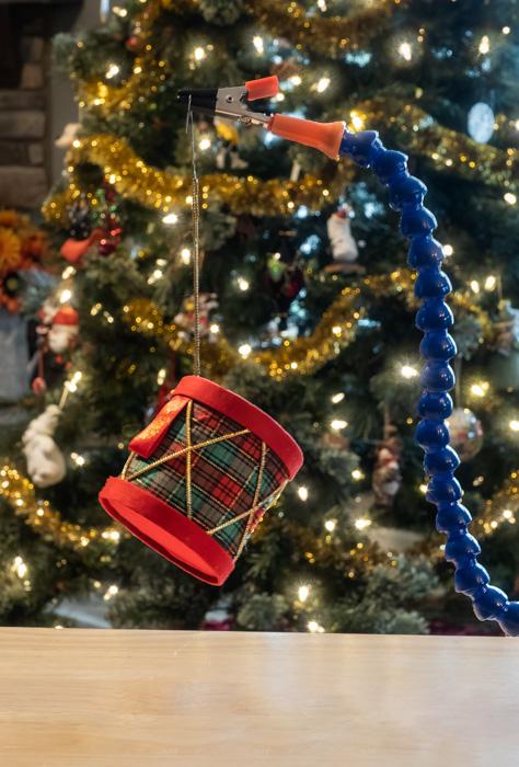 Christmas Tree Ornament Bokeh Set Up