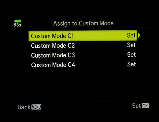 Assign to Custom Mode