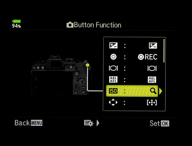 Map the Zoom Function to a Button