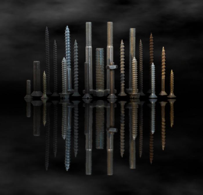 Screw City Skyline Reflection