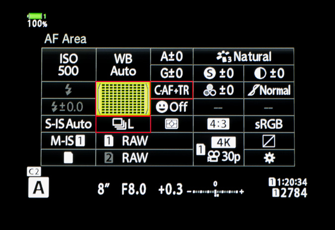 Super Control Panel Settings for Bird Detect AF