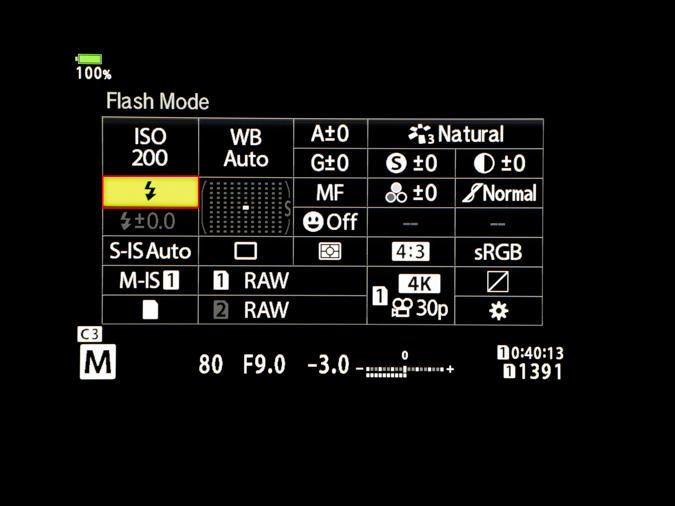 OM-D Super Control Panel Set Up for Flash