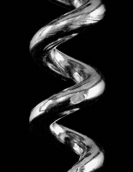 Black and White Corkscrew Macro