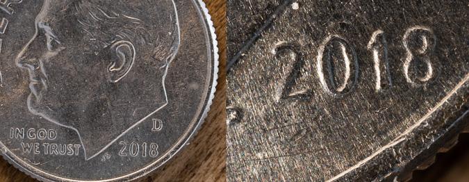 Dime Magnification Comparison