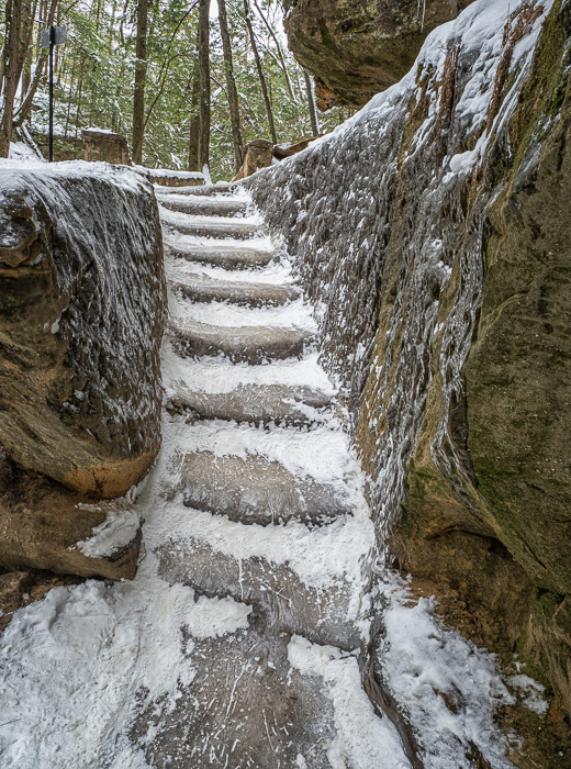 Icy Steps at Old Man's Cave
