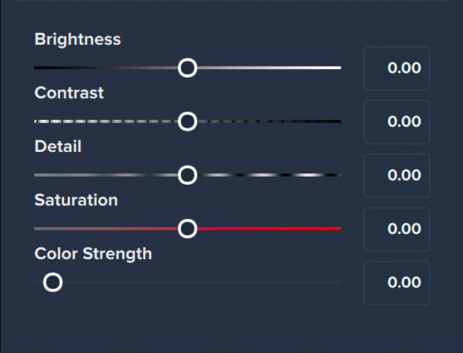 Texture Customization Sliders