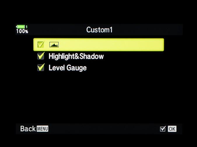 Live Info Custom Settings
