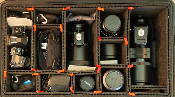 Pelican 1535 Case Packed with Wildlife Photography Gear