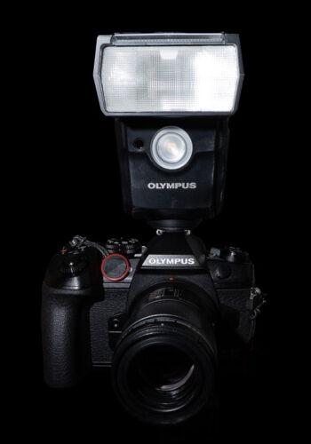 Olympus OM-D E-M1 Mark III with FL-700WR Flash