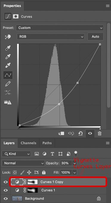 Vignette Curves Layer