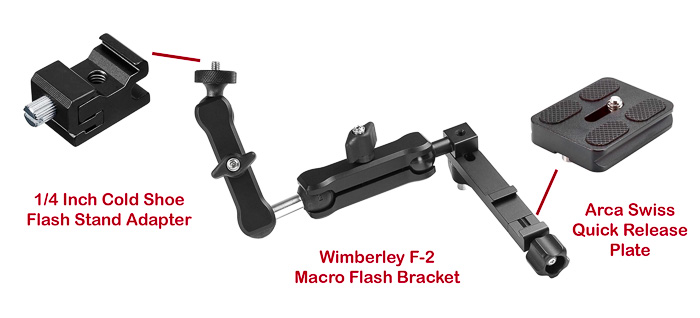 Wimberley F-2 and attachments to Mount to the Camera and Flash