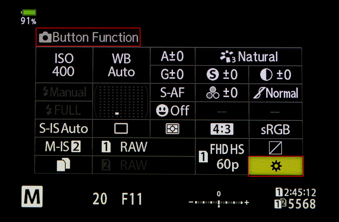 Set Up Button Function